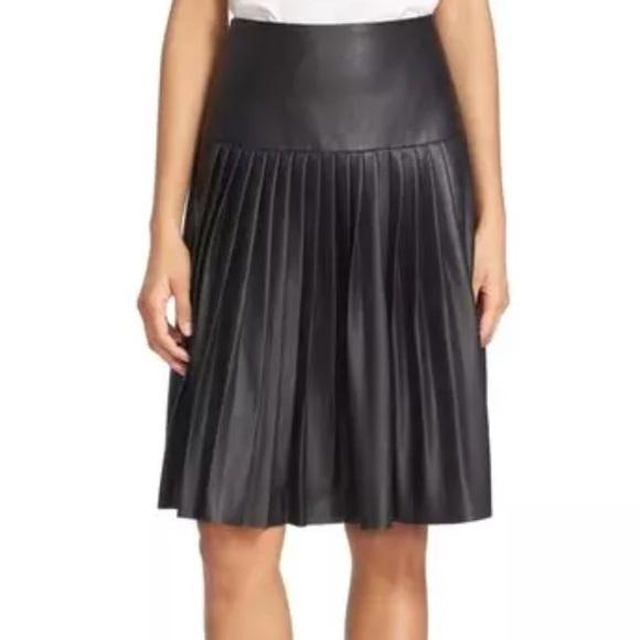 1bcd4f9a12 Rebecca Taylor Black Vegan Leather Pleated skirt 0.  M_5b4e58ac5098a0eeda9d5124